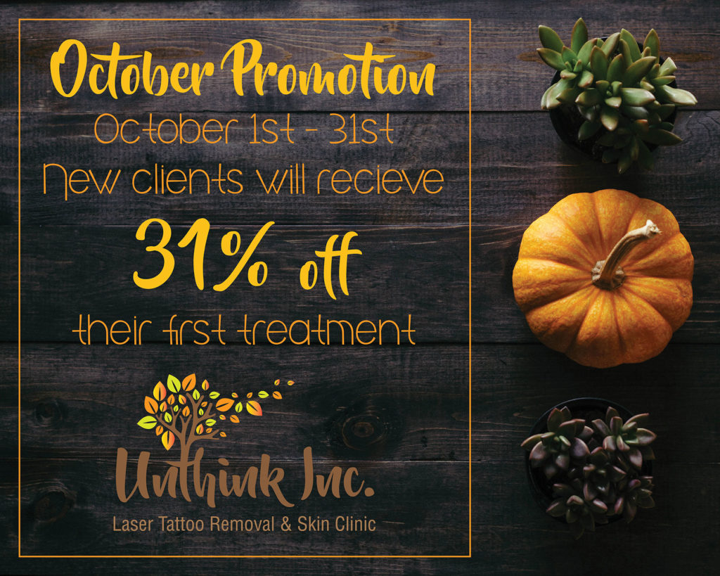Halloween Laser Tattoo Removal Promotion - Unthink Inc - Ajax Ontario